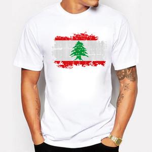 Libano T Shirt Uomo Bandiera nazionale T-shirt stile nostalgico 100% cotone Meeting Fan Short Streetwear Fitness Bandiera del Libano