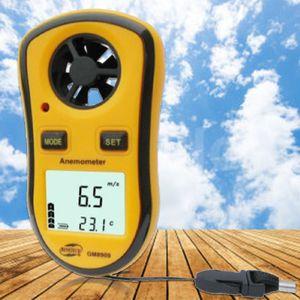 리얼 디지털 타코미터 Gm8908 핸드 헬드 에어 풍 속도 스케일 게이지 미터 디지털 풍속계 온도계
