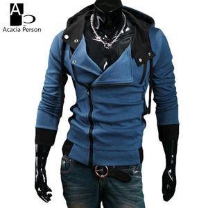 Оптовые- Новые люди Hoodies Весна Осень Мода Повседневный Slim подходят Кардиган Assassin Creed Толстовки Толстовка Верхняя одежда Куртки Мужчины Z1658