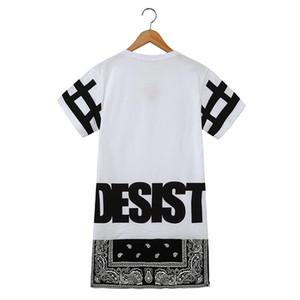 Gli uomini e le donne camicia lunga calda unisex di Hip Hop Tee Bandana maglietta CESSARE desistere Cool Fashion punk SUPERA IL T Bohemian floreale con la chiusura lampo