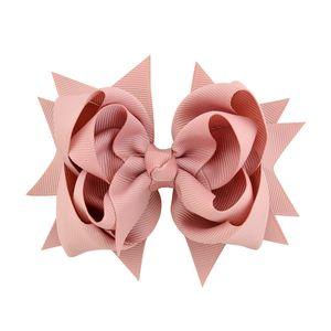 10 stücke 3 Schicht Grosgrainband Bogen Haarspangen 4,7 zoll Großen Bogen Für Mädchen Haarspange Haarnadeln Nette Kopfbedeckung Staubige Rosa Tan Minze