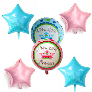 18 pollici Star Balloon Crown matrimonio compleanno festa di Natale decorazione Globos bambini giocattolo regali