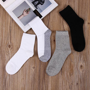 Hot sale Spring and autumn new men business soft and comfortable breathable cotton tube socks men socks NW019