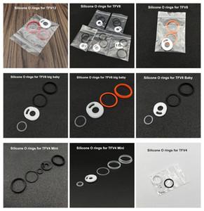 Ecig Silikon O halka Renkli Silikon Mühür O-ringler için yedek Orings Set Smoktech TFV12 Bebek Prens TFV8 büyük bebek X Bebek Vape Kalem