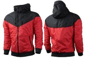 Sıcak Satış Erkekler Spor Hip Hop Açık Su Geçirmez Rüzgarlık Mens Womens Ceket Sonbahar Patchwork Yansıtıcı Ceket Erkekler ...