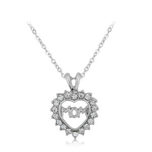 2017 nuovo a forma di cuore lettera di diamante mamma incisa collana Memorial ciondolo ricordo per il regalo del giorno di mamma