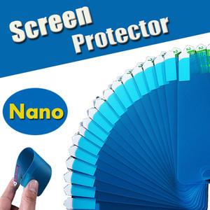 Protetor de tela nano à prova de explosão claro filme macio guarda flexível de proteção para iphone x 8 7 plus 6 6 s 5 5S huawei p20 pro lite p10 além de