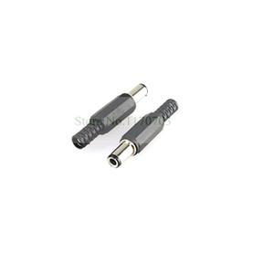 200 pcs preto de alta qualidade dc 5.5x2.1mm macho dc conector de alimentação