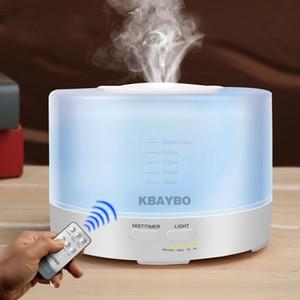 Telecomando ad ultrasuoni Air Aroma Umidificatore diffusore 7 luci LED di colore 500ml