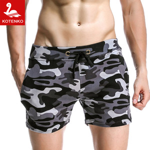 Al por mayor-SEOBEAN Hombre de la marca Workout Jogger Sweatpants Casual Trunks Mens Activewear Gay Camuflaje Fitness Boxeadores Hombres Beach Board Shorts