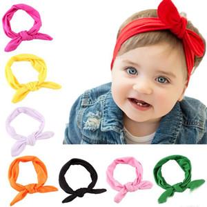 Bebek Yay Bantlar Kız Saç Aksesuarları Güzel Tavşan Kulakları Hairband çocuklar Tavşan Türban Büküm Düğüm Elastik Başkanı Wrap Fotoğraf Sahne