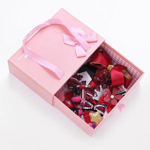 Accessori dei capelli della carta per capelli della principessa della neonata della scatola del regalo della ragazza della clip di capelli della ragazza del bambino