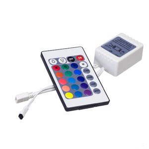 Controladores RGB Luzes de tira CONDUZIDA 24 chaves Controle Remoto cor faixa de luz flexível DC12v frete grátis Controlador
