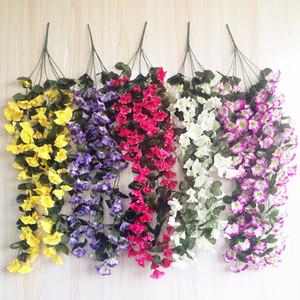 ein Morning Glory Rebe Hängen Reben Blume für Hochzeit künstliche dekorative Wand hängend Blume 5 Farben