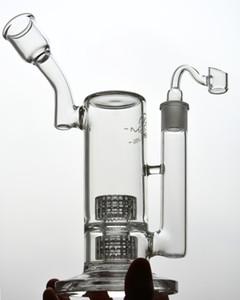 11 pollici Tall Glass Dab bong Recycler oil rig tubi narghilè con matrice stereo perc 18mm ciotola di vetro comune