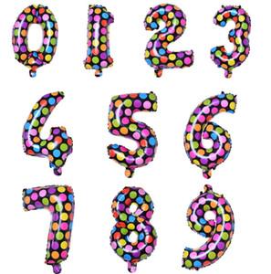 Nouveau Design Numéro Ballon De Mariage De Décoration De Banquet Parti Jouet Enfant En Aluminium Papier D'anniversaire Cadeau Gonflable À L'hydium À L'hélium De Noël