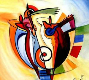 Ручная роспись искусство современный цвет абстрактная живопись маслом на холсте по Alfred Gockel Arts paintings Free Shipping Hot Sell Home Decorative