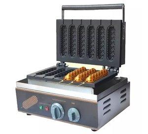 Vente chaude 6 Grilles Crispy Hot Waffle Maker Machine Muffin Électrique Faisant La Machine Gaufre Machine LLFA