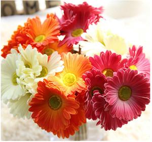 Aritificial ipek çiçek gerbera buketi ev dekorasyon düğün el yapımı narberton papatya buket için