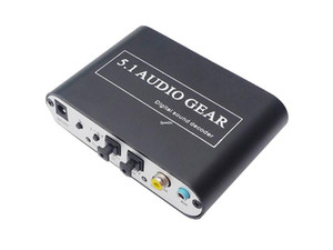 FreeShipping DTS Digital Audio Décodeur 5.1 DTS audio / AC-3 / 6CH Convertisseur audio numérique LPCM à 5.1 Sortie analogique 2.1 DVD PC + optique capable