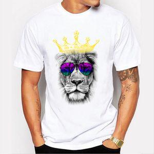 2017 neue mode cool art von lion gedruckt männer hohe qualität t-shirt hipster stil casual t-shirt