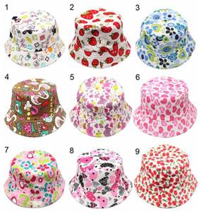 Cappello per il sole Nuovo 36 colori fiore dei bambini del cappello della benna temperamento tempo libero pieno di sole del bambino per 2-6 anni i bambini
