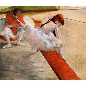 Peintures à l'huile par Edgar Degas Danseuses au repos peintes à la main art moderne décoration murale de haute qualité