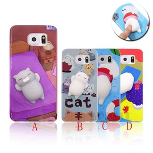 Squishy 3D Cartoon Soft TPU Cat Panda / Sea Lion / Etui en silicone souple pour Samsung Galaxy S6 S7 S8 Plus BE0444S