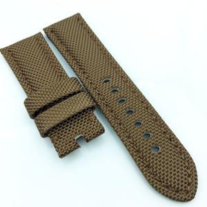 24mm 120 / 75mm Cinturino per cinturino in pelle di vitello tela moda di lusso di alta qualità per orologio PAM