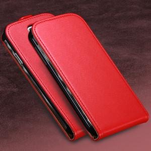 2017 para galaxy s3 s4 negocio real de cuero genuino caja del teléfono para samsung galaxy s3 i9300 iii s4 magnética vertical tapa del bolso de la cubierta