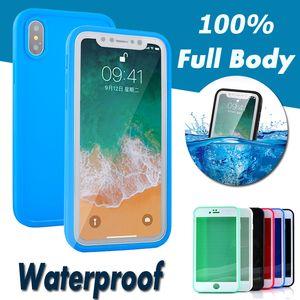 100% versiegelt wasserdicht wasserdicht stoßfest tauchen abdeckung fall für iphone xs max xr x 8 plus 7 6 6 s 5 s samsung galaxy s9 s7