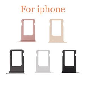 La bandeja de tarjeta SIM para el iPhone 5g 5S 5c 5SE 6g 6plus 6S 6sPlus 7 7g 7plus más bandeja de tarjeta SIM de repuesto sostenedor de la ranura de piezas de repuesto de reparación