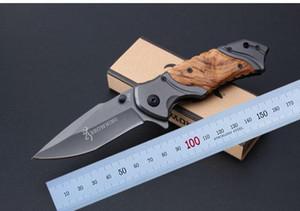 Browning x49 Tactical Складной нож сталь лезвия деревянной ручкой Titanium Карманный выживания Ножи Хантинг нож Рыбалка EDC инструмент