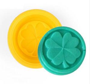 500 unids cuatro hojas del trébol de la flor del molde de la torta de silicona hecho a mano del jabón del molde 3D moldes de jabón artesanía diy molde para hornear herramientas