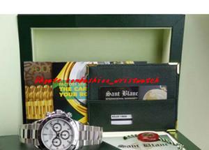 Заводские поставщики роскошные часы оригинальные коробки сапфир белый циферблат 116520 автоматические мужские часы мужские часы