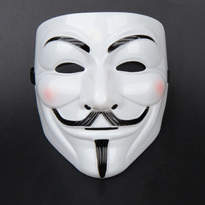 Máscaras de festa V para máscaras de vingança Anonymous Guy Fawkes Fancy Dress adulto traje acessório partido Cosplay máscaras