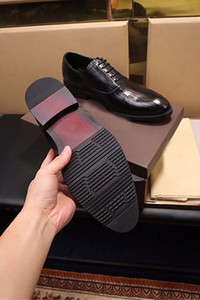 Fashion Show Business Mens Casual Oxfords Shoes Breathable Dress Cow Leather Shoes original edition Black Chirstmas Size38-44