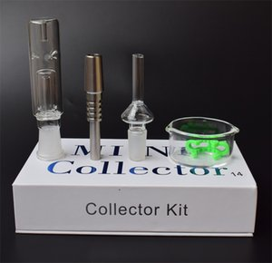 2016 Mini Nectar Collector Kit Nectar Collector набор с 14 мм/19 мм GR2 titanium nail Mini Glass Pipe Oil Rig концентрат мед Dab соломы