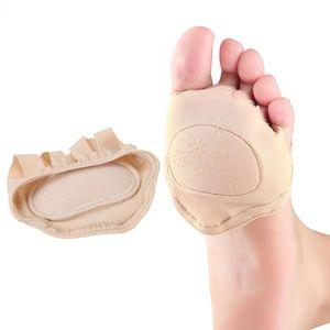 여성용 미끄럼 방지 젤 보이지 않는 앞발 패드 깔창 발목 양말 미끄럼 방지