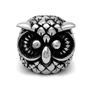 Anneau vintage de bijoux de hibou de bagues de cru la personnalité de gothique Punk Hip-hop Metrosexual Tirez cette exportation