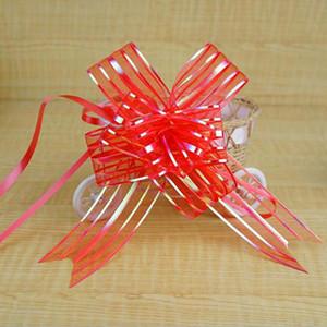 5 cm de gran tamaño lavanda arcos de organza para la boda Decoración del coche boda de organza tiras de flores cintas de regalo