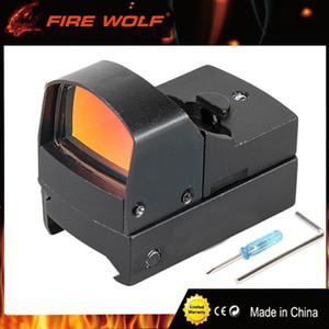 FIRE WOLF Doc 1x22 Helligkeitsempfindliche Steuerung Red Dot Sight mit Schalter für Airsoft Outdoor-Aktivitäten AR Schwarz