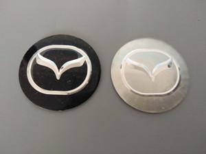 56.5mm 3D Araba Rozeti Tekerlek Merkezi Hub Cap Sticker Dayanıklı Logo Marka Amblem Araba Aksesuarı Anti Solmaya Tekerlek Dekorasyon Mazda Için Fit