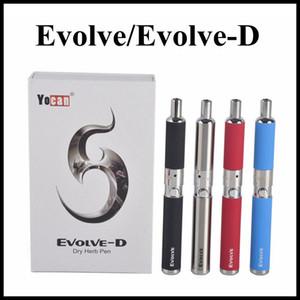 Originale Yocan Evolve Wax Vaporizzatore Pen Evolve-D Dry Herb Starter Kit 650mah Discussione eGo Dual Coils Argento Nero Rosso Blu Arancione Colori