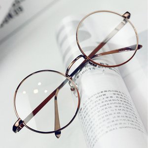 Toptan-ANEWISH Vintage Gözlük Gözlük Çerçevesi Kadınlar Yuvarlak Metal Optik Okuma Gözlükler Çerçeve Erkekler oculos feminino de grau