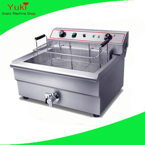 Commerciale 30L friggitrice macchina per friggere fritto elettrico friggitrice cestello grande capacità friggitrice 220 v