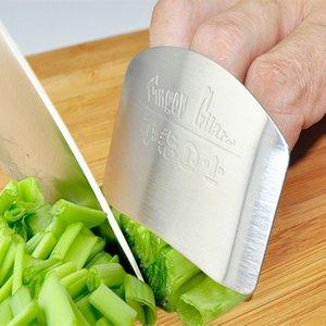 Küche, die Werkzeug Edelstahl-Finger-Hand-Schutz-Schutz Personalisierte Design-Hieb Sicher Scheibe Messer ELH025