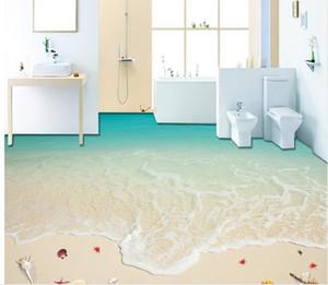 мода декор украшения дома для спальни серфинг пляж Морская звезда 3D полы водонепроницаемый обои для ванной стены