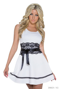 Vestido de festa Mulheres Moda Sexy Vestido Hot Club Escolha Ombros justo Maiden Outfit Vestido 2 Cores (Tamanho: M)
