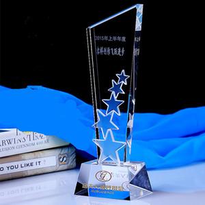 Trofeos de cristal y premios Personalizado Baloncesto Fútbol Golf Logotipo de la Copa de la Liga de Campeones Trofeo de trofeos Recuerdos